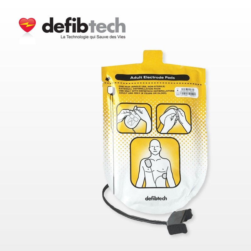 Electrodes Adultes DEFIBTECH