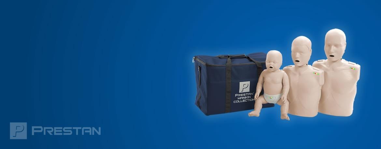 Prestan, Mannequins de formation au secourisme en tailles Nourrisson, Enfant et Adulte.